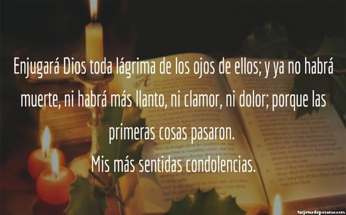 Frases de condolencias cristianas por fallecimiento