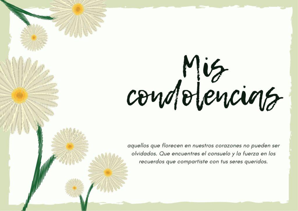 condolencias y flores