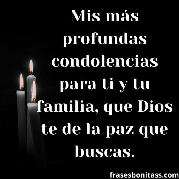 de pesame mensaje de condolencias con velas