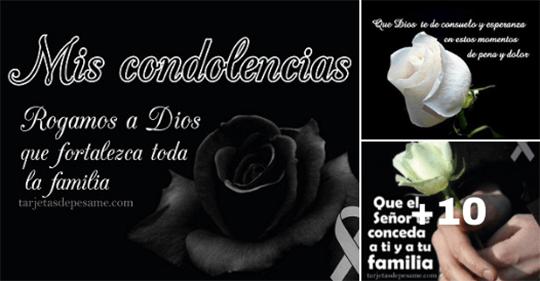 de pesame con mensajes de condolencias